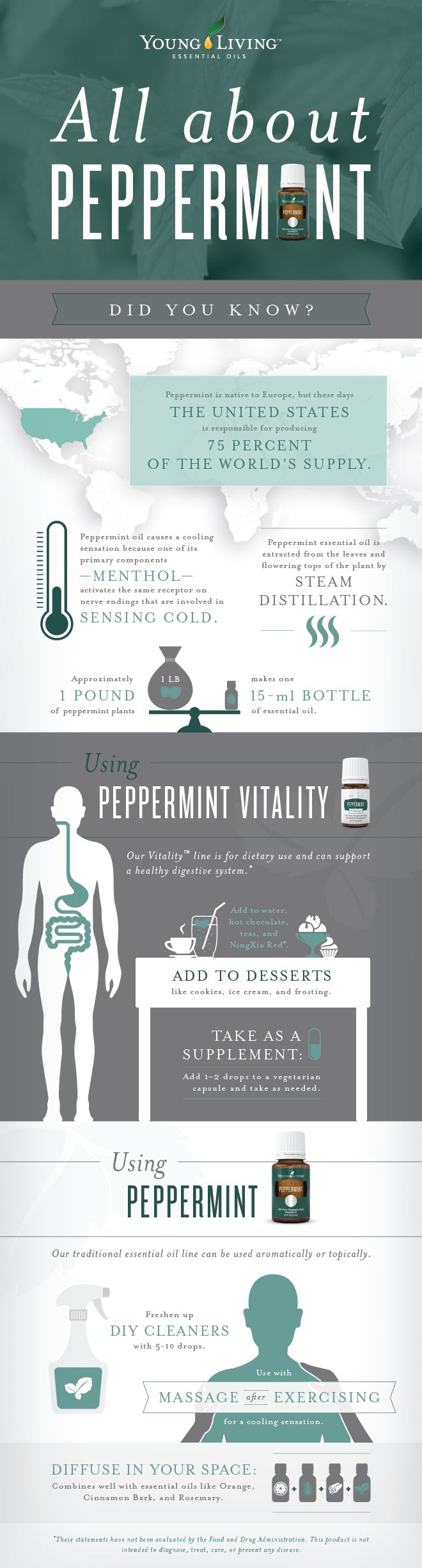 Young Living Peppermint Essential Oil and Peppermint Vitality Essential Oil - peppermint uses, peppermint oil