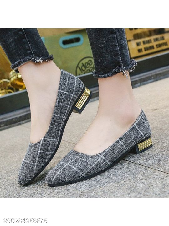23c921c1f Chunky Low Heeled Point Toe Date Office Comfort Flats Women's Shoes, Flat &  Loafers #Shoes #Boots #Sneakers #Pumps #Sandals
