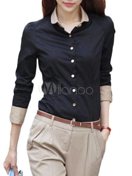 Blusa negra con manga larga para mujeres #workoutfit
