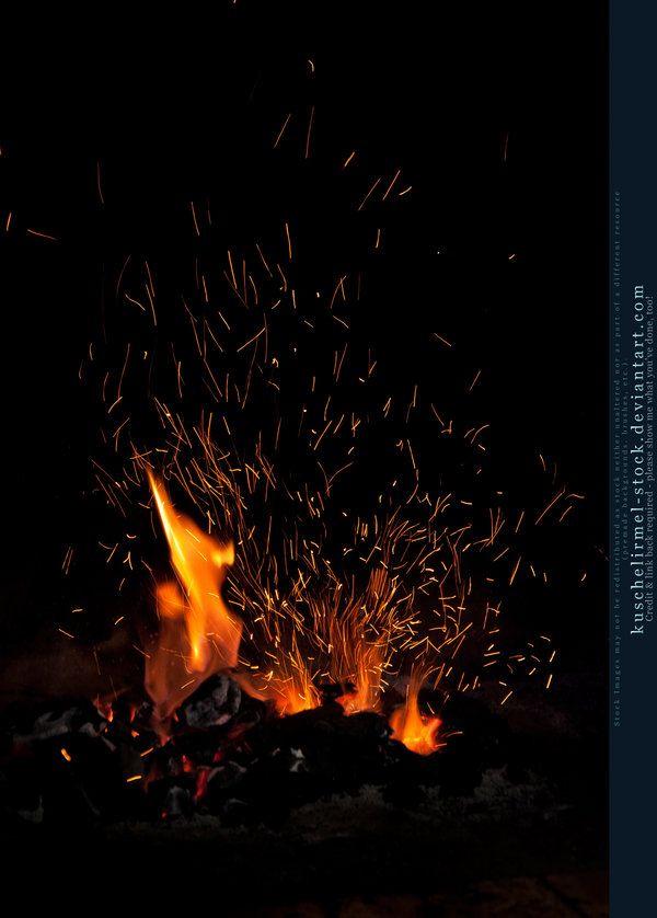 Flames And Sparks 02 By Kuschelirmel Stock Deviantart Com On Deviantart Light Background Images Background Images Wallpapers Blue Background Images