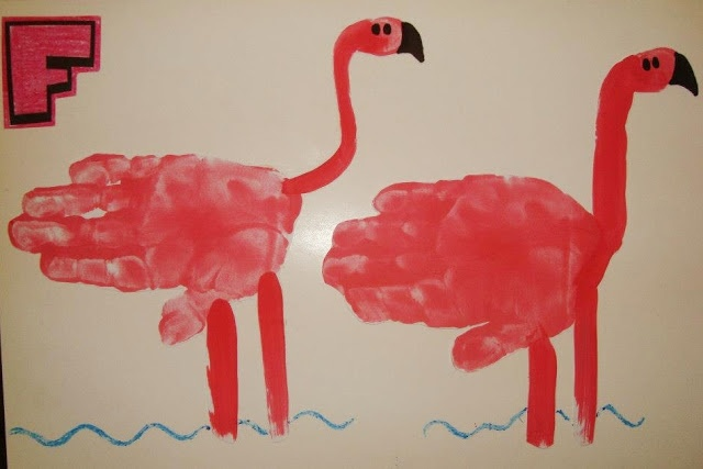 Our Week with the Letter F, early learning alphabet, Letter F flamingo