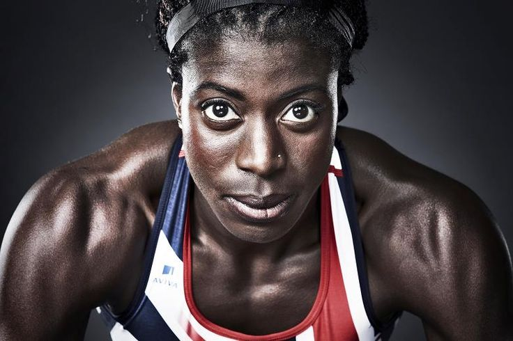 Christine Ohuruogu photographed for the Times.