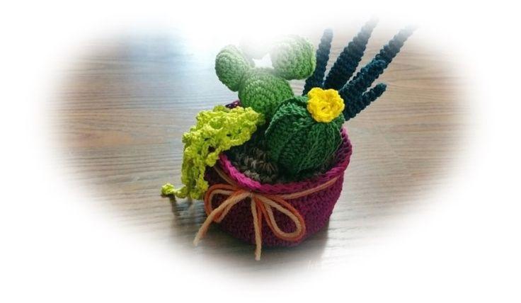 코바늘 선인장 화분 만들기 3 - 다 쓴 바디로션 케이스 재활용 화분 만들기 ~ crochet