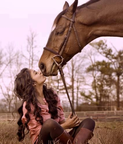 A woman and her horse.