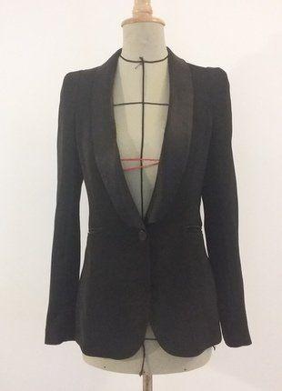 Veste/blazer smoking noire taille 34 (à 36)