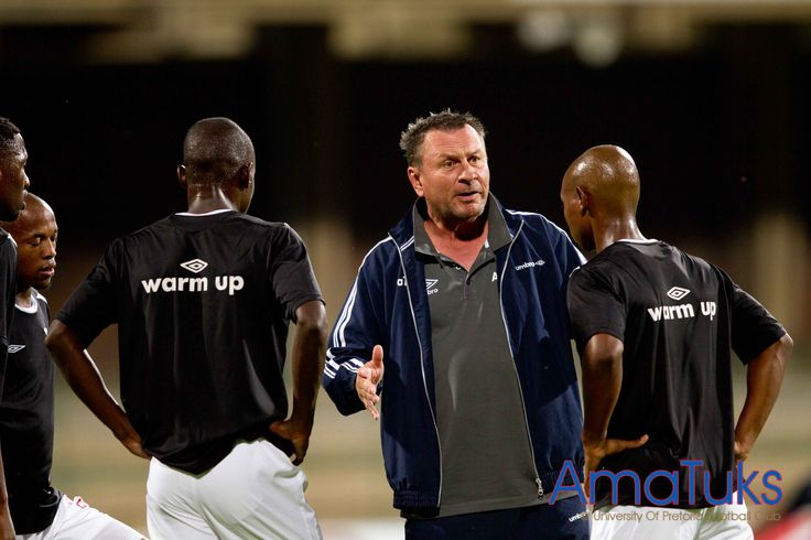 """""""Hey Elvis"""" Sammy Troughton getting the defence organised 13 February 2013 vs Golden Arrows"""