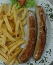 Unser Angebot zum Jahresanfang  (bis zum 31/01/2013): Bockwurst mit Bratkartoffeln und Mayo/Ketchup plus Beck's (Flasche, 0,5 liter) für 5,90 Euro im Restaurant/Kneipe #FurtherHof.