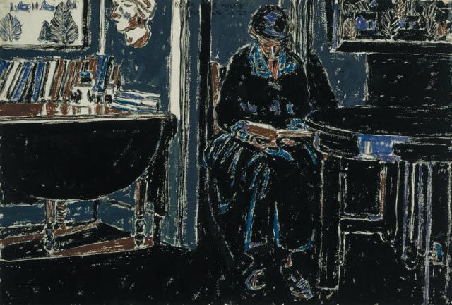 David B. Milne – Woman Reading, 23 April 1920, watercolour over graphite, 38.3 x 55.8 cm   National Gallery of Canada