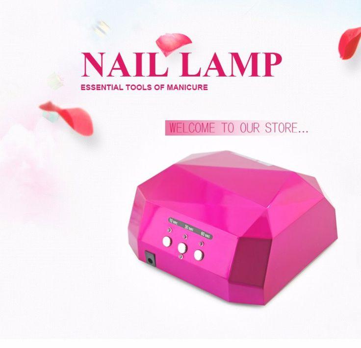 36W 110v&220v CCFL LED Professional Nail Gel Lamp Dryer Diamond Shape Curing Nail Dryer Newly Diamond UV gel Lamp Nail Dryer - OutlookBeauty OutlookBeauty