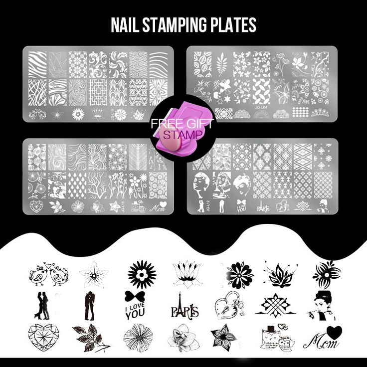 Stainless Steel Plates set 2 Nail DIY Stamping Nail Art Tips set  Image Stamp Templates Polish Accessory Tools Freeshipping