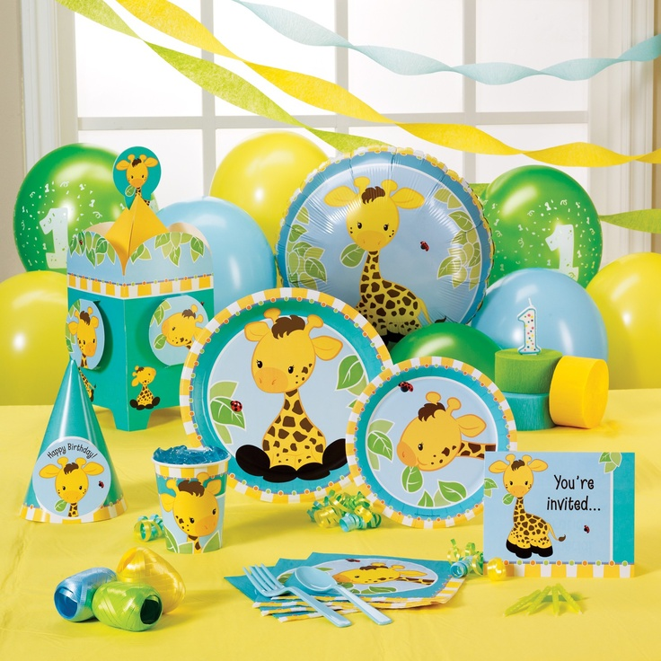 Giraffe Party Supplies Party Cake Ideas Pinterest