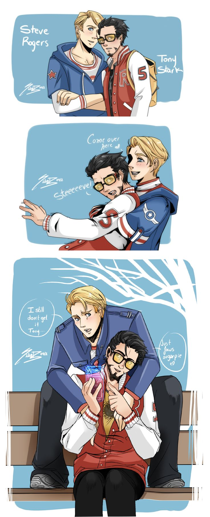 stony avengers | Stony College AU by SiliceB