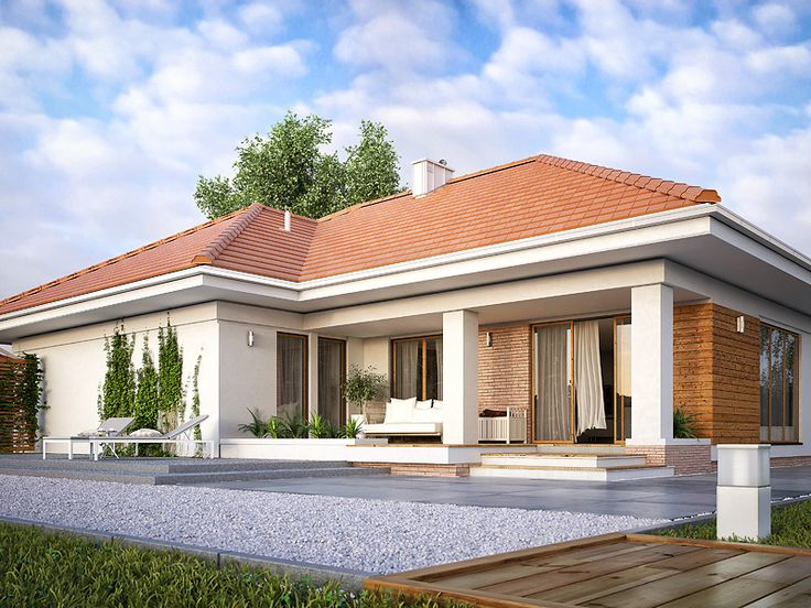 Ambrozja 7 (145 m2) to projekt domu parterowego idealny dla osób ceniących przestrzeń i swobodę. Pełna prezentacja projektu znajduje się na stronie: https://www.domywstylu.pl/projekt-domu-ambrozja_7.php. #ambrozja #projekty #domów #gotowe #domy #projekt #architektura #wnetrza #interiors #insides #home #houses #domywstylu #mtmstyl #aranżacje