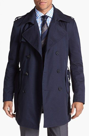 BOSS HUGO BOSS Double Breasted Trench Coat available at #Nordstrom