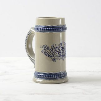 Hungarian folk motif beer stein