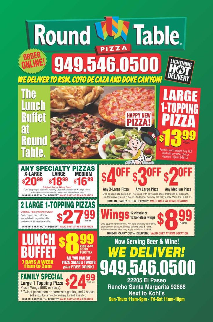 Round Table Pizza Buffet Locations Images Table Decoration Ideas - Round table pizza lunch buffet coupon