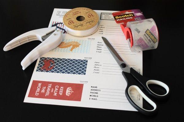 printable luggage tags - supplies