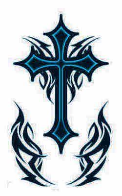 tribal Belly Button Tattoos Gallery | Go Forward from Tribal Cross Tattoos to Holy Cross Tattoos