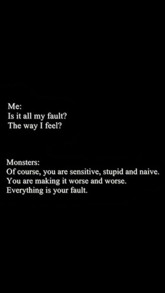Depressing Quotes Sad Depressing Quotes Depression: Everything Is My Fault
