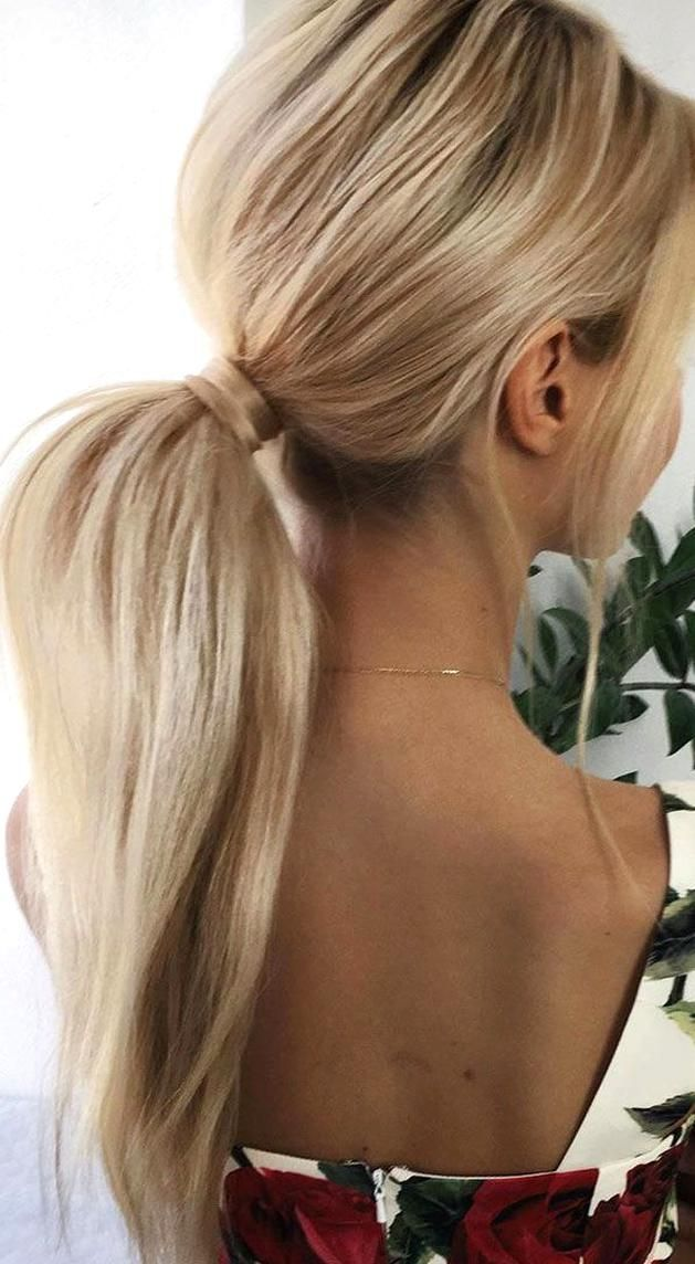 53 Best Ponytail Hairstyles Low And High Ponytails To Inspire Hairstyles Weddinghair Ponytails In 2020 Hair Styles Straight Ponytail Hairstyles Elegant Ponytail
