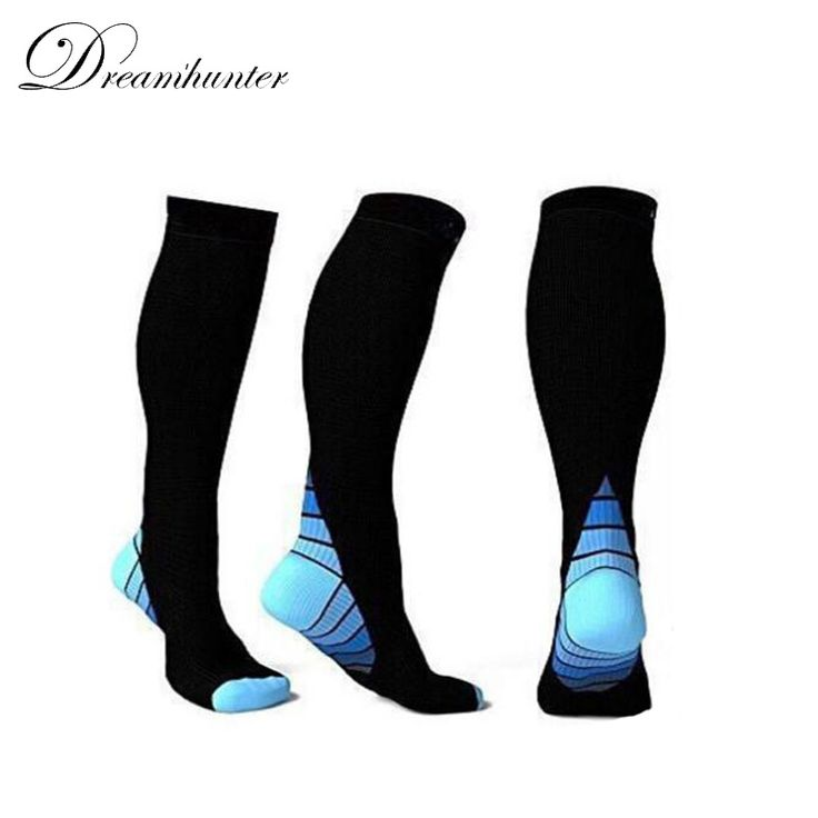 Unisex Compression Socks Men Women Running Football Stockings Breathable Basketball High Socks Calcetines Ciclismo