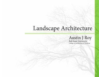 Portfólio de Arquitetura Paisagística  – Design