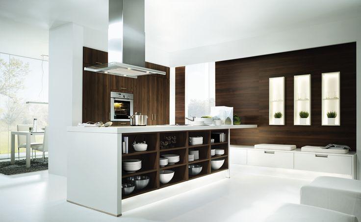 Witte Moderne Keukenstoelen : Moderne keuken met witte keukenkasten en ...