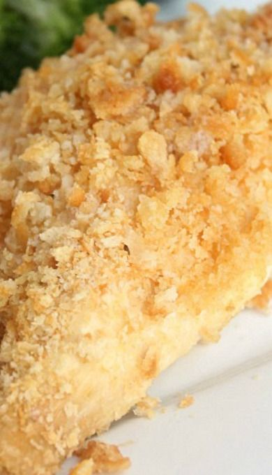Ritz Cracker Chicken....I made this on July 29, 2014...YUMMY!!! It is moist and flavorful.  I will definitely make it again.  vg