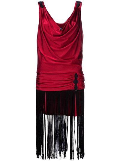JULIA CLANCEY Flap Fringe Dress