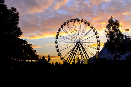 Royal Sunset - Finally our Big wheel is back up and running!