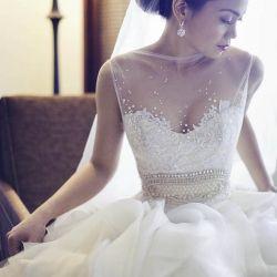 stunning: Wedding Dressses, Mesh Overlays, Sheer Tops, Wedding Gowns, The Dress, Weddings Hair Dresses Cak, Beautiful Gowns, Stunning Wedding Dresses, Stunning Dresses