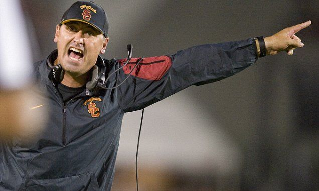 USC's Steve Sarkisian is fired and Clay Helton will take over on interim basis   Daily Mail Online