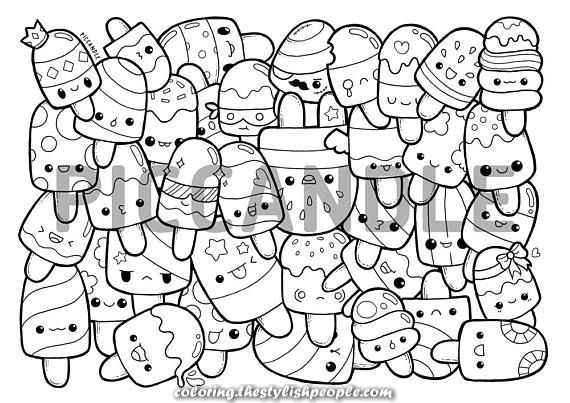 Kawaii Popsicle Doodle Coloring Page Tips