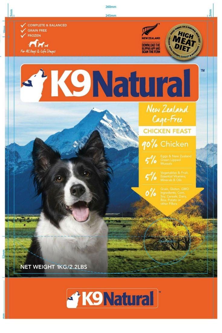 K9 Natural Ltd Voluntarily Recalls K9 Natural Frozen Chicken Feast