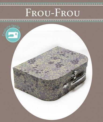 Valisette couture en carton Fleuri Violet sage
