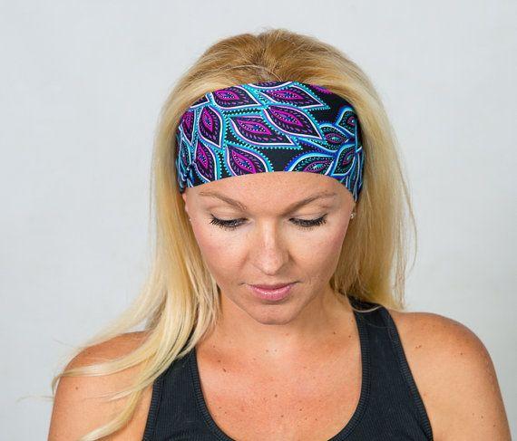 Yoga Headband Workout Headband Purple Yoga by YogaHeadbands