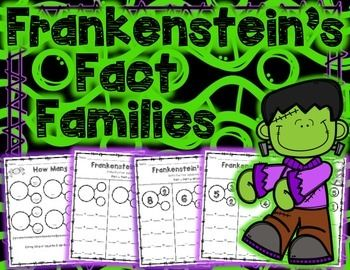 """Use this freebie to explore the relationship between addition and subtraction using number bonds and fact families. This packet includes 5 number bond/fact family worksheets. It also includes a sheet of blank number bonds to be used with the classic """"How Many are Hiding"""" game."""