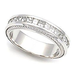 18k White Gold Channel set Diamond Eternity Wedding Band Ring (G-H/VS, 1 1/4 ct.)