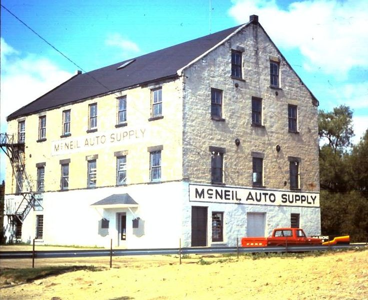 McNeil Auto Supply on Water Street, next to the Park Hill bridge in Galt.  Its hard to believe that this same building is now the beautiful Cambridge Mill restaurant.
