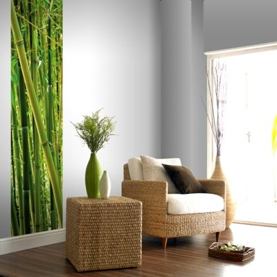49 best rattan and bamboo furniture images on pinterest for Bamboo wall mural