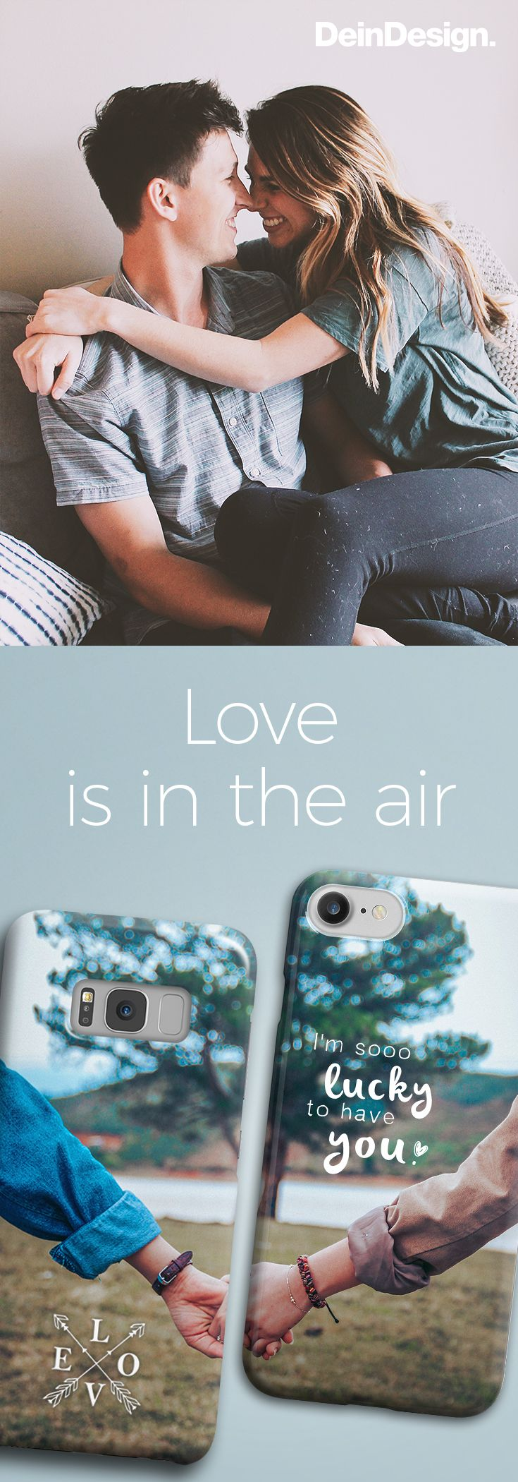 Valentine's Day // Personal Gift Idea // Make Your Own Phone Case // DIY // Gift for You // Gift for Him // Love Quote // by DeinDes …