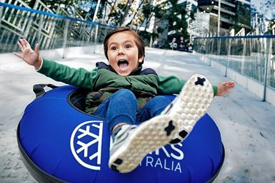 Warm up this winter with an exhilarating journey down the giant Melbourne Ice Slide!