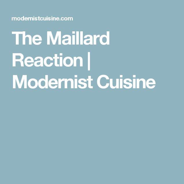 The Maillard Reaction | Modernist Cuisine