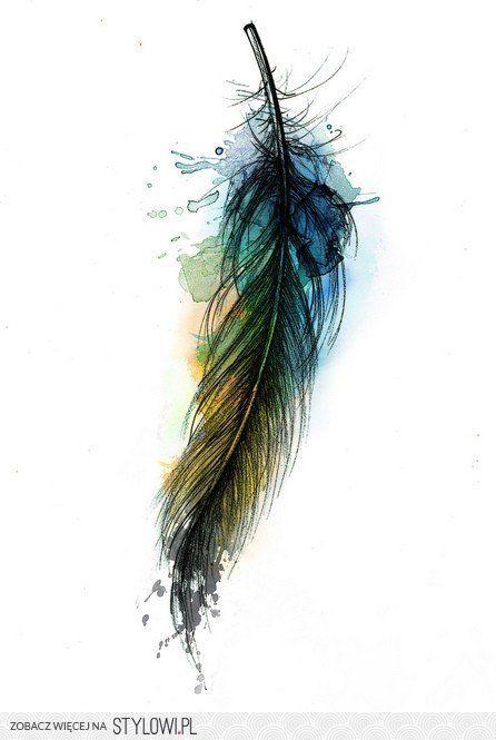 So pretty. Watercolor tattoo