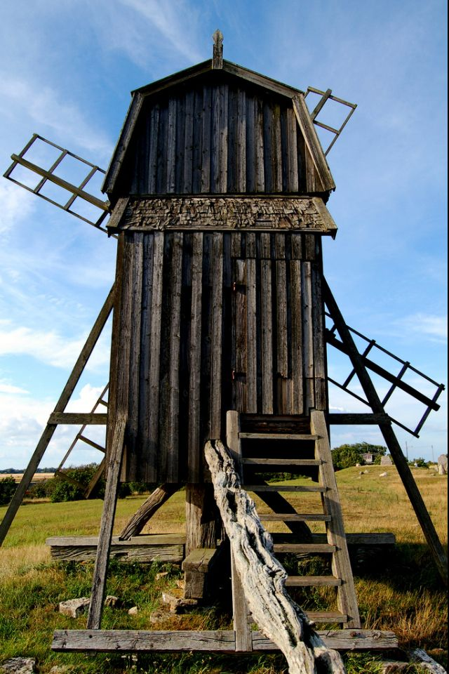 Windmill in Gettlinge, Öland, Sweden