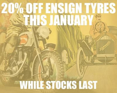 We're offering 20% off all #Ensign, #Avon car tyres and #Waymaster tyres while stocks last. #classicbike #classiccars #motorcycles