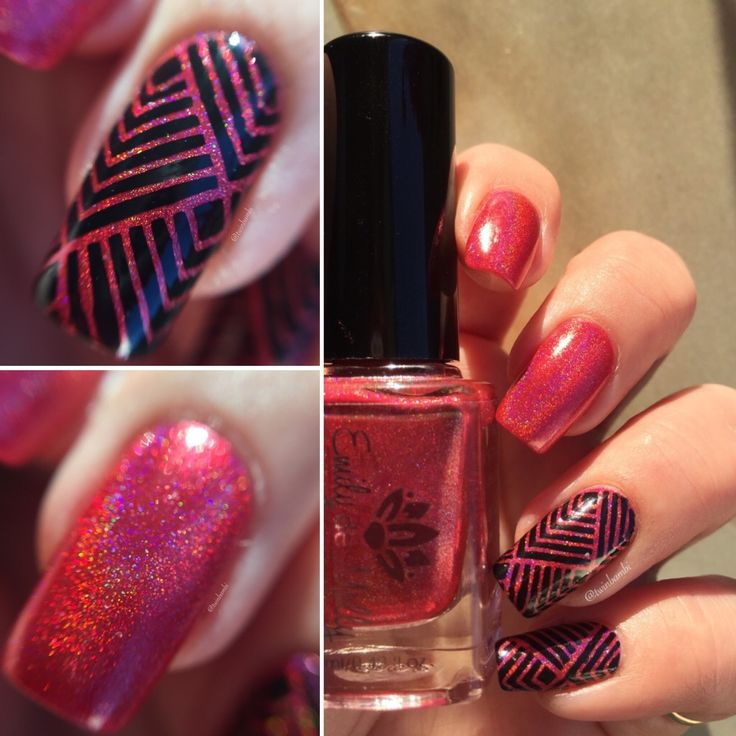 China Glaze Liquid Leather Emily De Molly Seeing Red @vinailicious15 Square Stitch vinyl