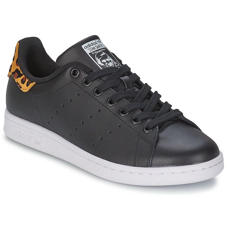 adidas Originals STAN SMITH W Noir / Blanc / L�opard