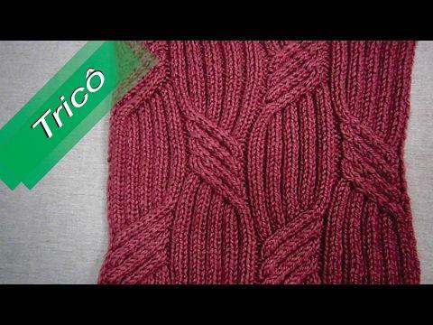 DIY - Tricô - Ponto Fantasia 08 (Passo a Passo) - YouTube