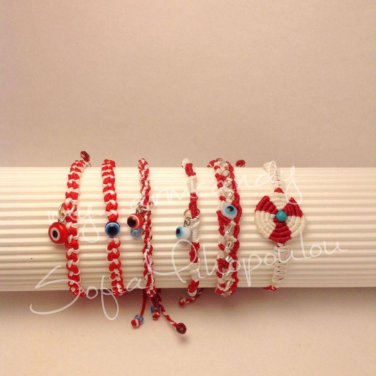 Βραχιολακια Μάρτη macrame. #March-bracelets. Μάρτης. Μαρτάκια. #martis